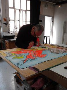 L'atelier de Pierre Manguin Photo Raphaële Kriegel www.photographe-tableau-paris.com
