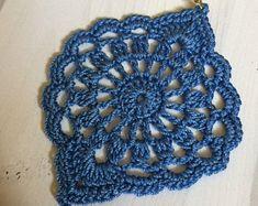 28. ONE Crochet Earrings Pattern, PDF File -Crochet openwork dangle earrings, simple pattern