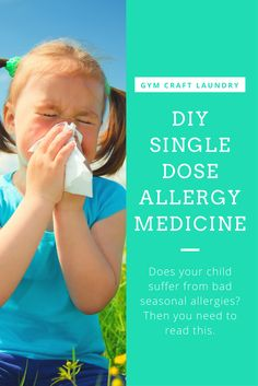 DIY Single Dose Benedryl packs to put in your purse. Spring can wreak havoc on allergies but single dose packs of allergy medication are expensive!