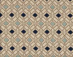 50W X 84L Shower Stall Curtain Hira Indigo Blue Taupe Beige Geometric