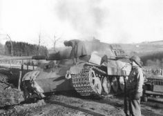 Tiger II '223' was abandoned just outside of La Gleize on December 19th, 1944.