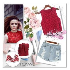 """""""Romwe III"""" by almma-karic ❤ liked on Polyvore featuring Converse, Sephora Collection, Karlsson and romwe"""