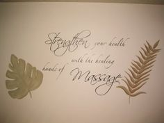 A wonderful decal for my massage room
