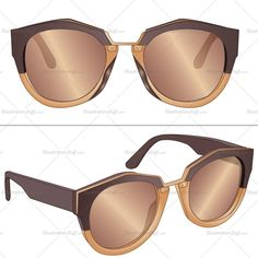 A fashion flat template for women's sunglasses. This template includes front and side view sketches of the sunglass. It's easy to edit and use. Summer Sunglasses, Sunglasses Women, Illustrator, Fashion Design Jobs, Flat Sketches, Face Illustration, Fashion Templates, Technical Drawing, Fashion Flats