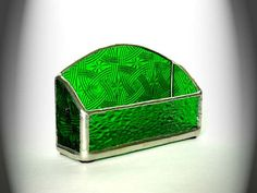 Stained glass business card holder.