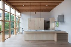 Module Grid House - Tetsuo Yamaji Architects - Kanto Japan - Kitchen - Humble Homes Architecture Du Japon, Japanese Architecture, Interior Architecture, Prefabricated Houses, Prefab Homes, Minimalist Interior, Minimalist Home, Casa Wabi, Interior Styling
