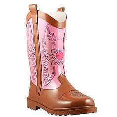 Western Chief- -Toddler/Youth Girl's Rain Boot Western Cowgirl - Pink