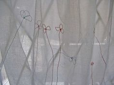 embroidered muslin curtains