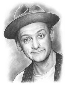 Edward Norton of the Honeymooners TV Show - Pencil Sketch by Greg Joens.  www.gregjoens.com