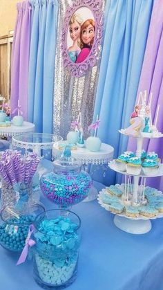 Frozen (Disney) Birthday Party Ideas Photo 1 of 12 Catch My Party Frozen Birthday Party, Frozen Theme Party, Cars Birthday Parties, Disney Birthday, Cake Birthday, Disney Frozen Party, Third Birthday, Elsa And Anna Birthday Party, Mouse Parties