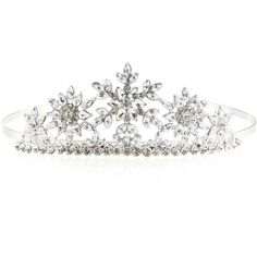 Monsoon Snowflake Sparkle Tiara ($20) ❤ liked on Polyvore featuring accessories and hair accessories