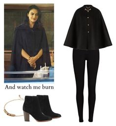 """""""Veronica Lodge - Riverdale"""" by shadyannon ❤ liked on Polyvore featuring River Island, ASOS, Burberry and Sam Edelman"""