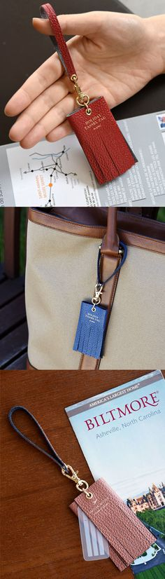 The Genuine Leather Holiday Tassel Tag is a great looking tag to add elegance and charm to any of your item! The colors and design will make anything looking much more beautiful. Leather Tassel, Leather Bag, Leather Tutorial, Keychain Design, Leather Luggage Tags, Coin Bag, Tassel Jewelry, Leather Keychain, Small Leather Goods