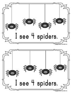 Spider counting book/emergent reader - Freebie