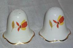 Vintage Hall's Jewel Tea Autumn Leaf Casper Salt Pepper Shakers by ShonnasVintage, $34.99