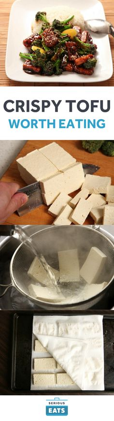 Wonderful [Here's how to cook tofu so good even tofu-haters might come around.] Serious Eats, J. Kenji Lopez-Alt The post [Here's how to cook tofu so good even tofu-haters might come around.] Serious Eats, J. Kenji Lopez-Alt… appeared first on Trupsy . Veggie Recipes, Whole Food Recipes, Vegetarian Recipes, Cooking Recipes, Healthy Recipes, Tufo Recipes, Cooking Tofu, Dinner Recipes, Vegan Recipes