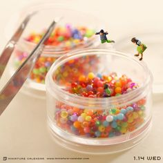 A teeny tiny ball pit! How marvelous! All The Small Things, Mini Things, Little Things, Diorama, Minis, Miniature Calendar, Miniature Photography, Tiny World, Miniature Figurines