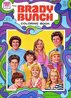 The Brady Bunch vintage coloring book.  #Seventies  childhood memories  #bradybunch