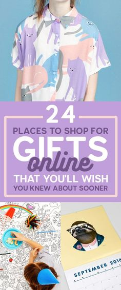 24 Places To Shop For Gifts Online That You'll Wish You Knew About Sooner.  Everyone could use some help in the gift-giving department. Whether you are buying for your sibling or a distant relative that you barely know, this list has some great options for unique gifts from online retailers. Check out the complete guide at https://www.buzzfeed.com/mallorymcinnis/hey-and-if-you-don-t-know-now-you-know?sub=4018300_7397510&utm_term=.sl6GyvRVm#.gm7mY0pW4