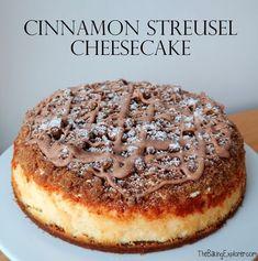Cinnamon Streusel Cheesecake (The Baking Explorer) No Bake Desserts, Just Desserts, Delicious Desserts, Dessert Recipes, Yummy Food, Digestive Biscuits, Cheesecake Recipes, Cinnamon Cheesecake, Let Them Eat Cake