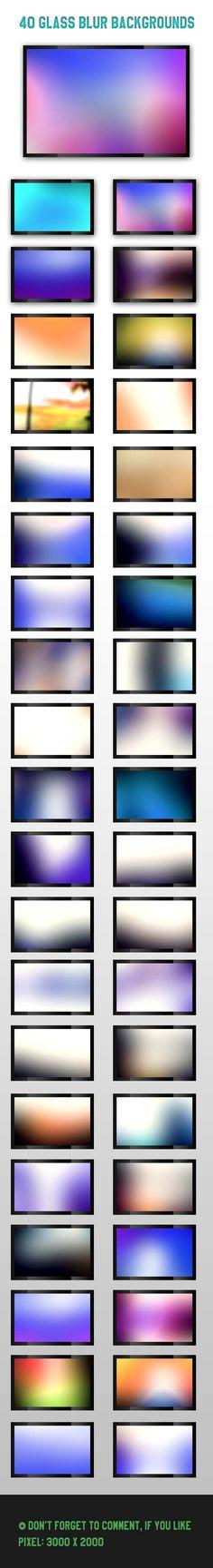 40 Glass Blur Backgrounds [Freebie] | SMFAPLUS - The Online IT Plus Magazine
