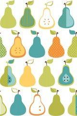 Bistro 750 Kitchen Pears Wallpaper