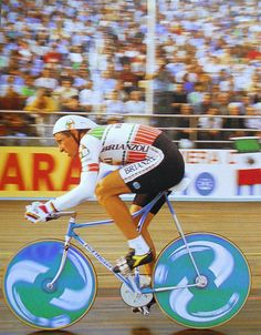 Francesco Moser Hour Record Milano 1986 by Bici crono, via Flickr