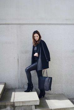 40 Ideas Estilosas Para Usar Tus Pantalones De Cuero – Cut & Paste – Blog de Moda