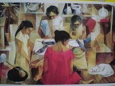 Vicente Silva Manansala (January 1910 - August was a Philippine cubist painter and illustrator. Manansala was born in. Filipino Art, Filipino Culture, Value Painting, Cubist Art, Philippine Art, Oil Pastel Art, Beautiful Paintings, Art World, Illustration Art