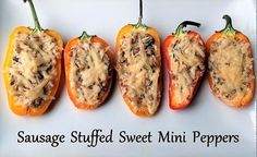 Sausage Stuffed Sweet Mini Peppers Flavorful Eats Recipe Stuffed Peppers Stuffed Mini Peppers Sweet Pepper Recipes