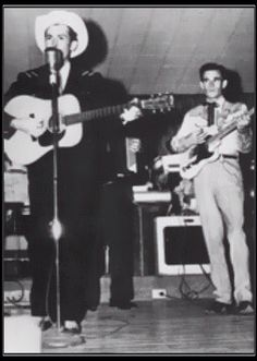 1st known photo of Hank Williams Sr. With a Fender Electric guitar lead player.