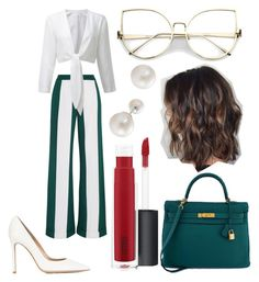 """Untitled #39"" by frid1445 on Polyvore featuring Monse, Gianvito Rossi, Hermès and John Lewis"