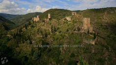 Visite aérienne des Quatre Châteaux de Lastours