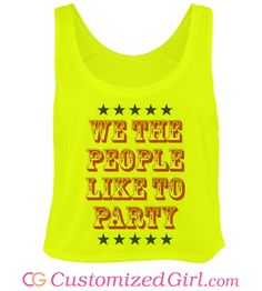 #FourthOfJuly shirts, tanks, crop tops, dresses, and more at Customized Girl! #4thofjuly #july4th #neon