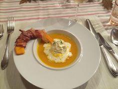 Kürbiscremesuppe Eggs, Dining, Breakfast, Food, Morning Coffee, Meal, Meal, Egg, Essen
