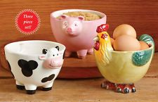 Country Farmhouse Animal Bowls Cow Pig Rooster Farm Kitchen Themed Home Decor Pig Kitchen, Rooster Kitchen Decor, Chicken Kitchen, Yellow Kitchen Decor, Kitchen Decor Themes, Kitchen Ideas, Funny Kitchen, Cozy Kitchen, Kitchen Reno