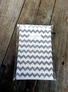 Grey Chevron Favor Bags