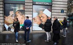 United Colors of Benetton's UnHate campaign. Simply... WOW! I love it.
