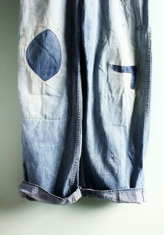 patched denim