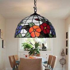BYB Country Tiffany Style Pendant Lamp Ceiling Lighting Hallway Balcony Study