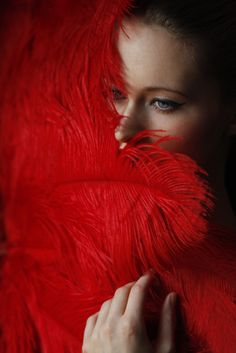 Fiery red feathers!