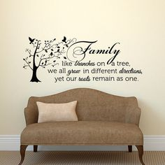 Family Wall Decal Quote Family Like Branches On A by PonyDecal #EtsyGifts