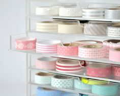 Ideas de almacenamiento de cinta Washi | elaboración bajo la lluvia ♡ Teresa Restegui http://www.pinterest.com/teretegui/ ♡