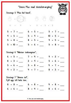 Stora Plus – Montessoriinspirerad matematik Free Teaching Resources, Teacher Resources, Math Strategies, Math Addition, Classroom Inspiration, Math Activities, Worksheets, Homeschool, Education