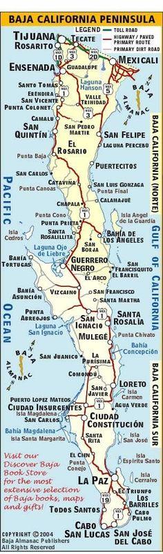 Baja map-La Paz & Isla Espiritu Santo
