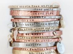 CIJ SALE Gift / Gift for Her / BlessingBands / Mantra Bangles / Power Phrase Bracelets / Gift for Her / Unique Gift / Positive Jewelry