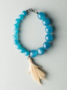 Angel Blue Bracelet by Carla Szabo Air, Tassel Necklace, Jewelry Design, Angel, Bracelets, Blue, Collection, Bracelet, Arm Bracelets