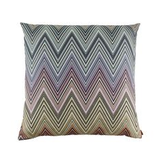 Add eye-catching prints to your home with this Kew cushion from the Missoni Home 2014 Collection. Featuring a chic chevron…