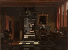 Interior with a Woman at the Virginal  Emanuel de Witte (1617/18-1692)