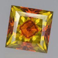 Eye-clean sphalerite with very unusual color distribution